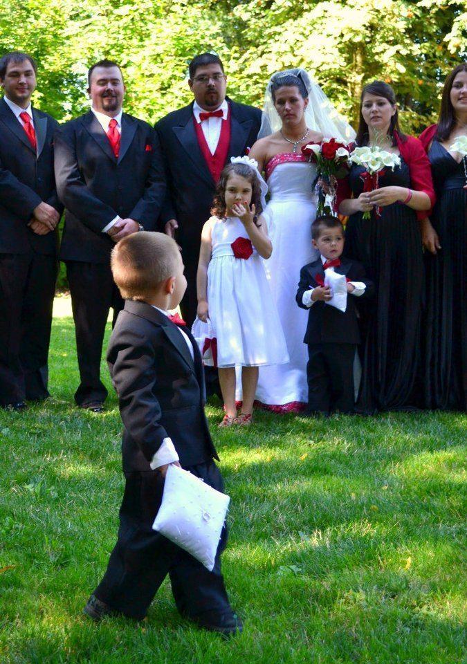 Young Boy at Wedding