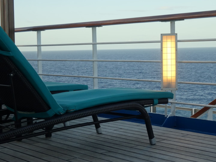 Relaxing on the Deck of a Cruise Ship