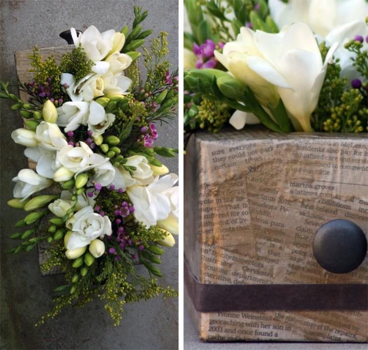 Floral tissue box Centerpiece