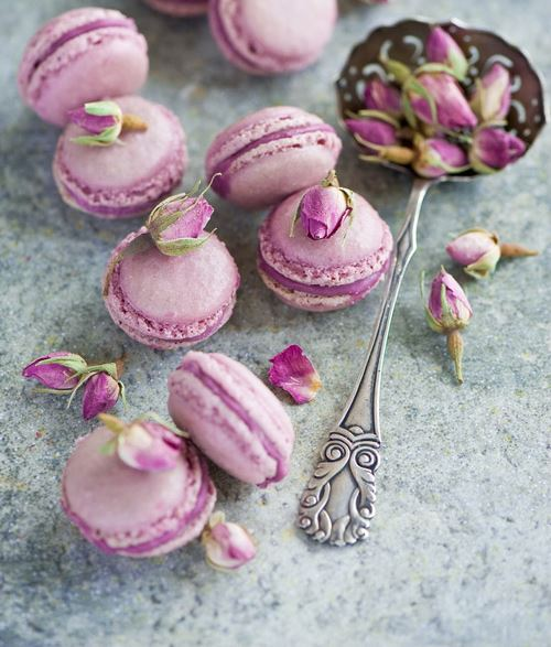 Radiant Orchid Macarons for Wedding