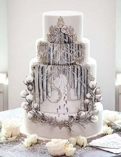 winter wonderland wedding cake pictures winter wedding cakes 27573