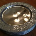 Beaded silver charger plates