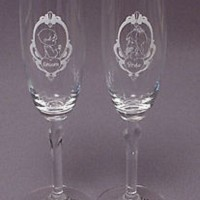 1994 precious moments wedding toasting glasses