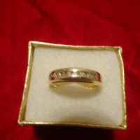 14k Gold Channel Diamond Wedding Ring