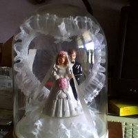 NICE WEDDING CAKE TOPPER & KEEPSAKE